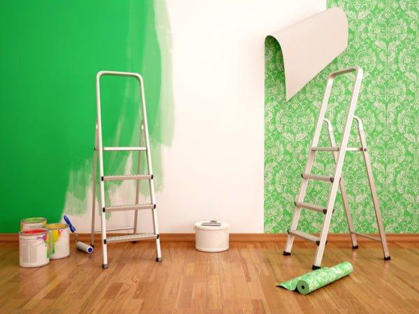 Zelena zidna tapeta