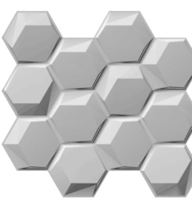 3D ZIDNI PANEL HEXAGON